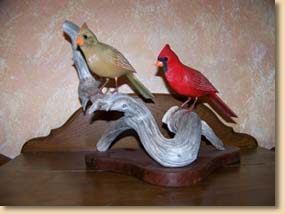 Cardinal Wood Carvings